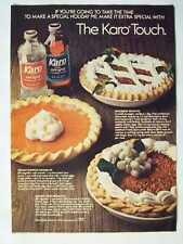 1976 Karo Light & Dark Corn Syrup Pie Magazine Advertisement Ad Page
