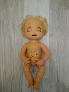 Hasbro Baby Alive 2006 Soft Face Interactive Blond Hair Blue Eyes