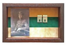 Large Royal Inniskilling Fusiliers Medal Display Case With Photo For 3-4 Medals