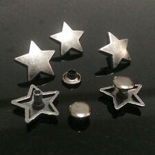 "Pkg of 5 STAR Metal Rivet Studs 5/8"" (15mm ) Leather Crafts (1026) Concho"