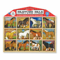 Melissa and Doug Pasture Pals Play Set | 9 Pieces | Pretend Play