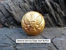 Old Rare Vintage Antique War Relic Eagle Vest Button Case for Display Protection