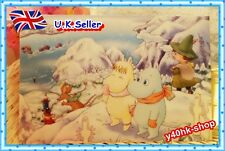 Any 2 X Moomin valley Pearly luster sunface postcard