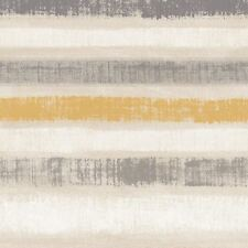 Painted Stripe Ochre Wallpaper Paste The Wall Metallic Gold Grey Beige Arthouse