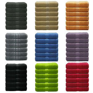 Pack of 6 Luxury Hand Towels 550 gsm available in Beautiful Colours !!!