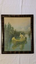 Vintage A Daughter of the Wilderness Indian Maiden Framed Art Print Zula Kenyon