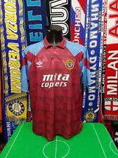 Maglia Calcio Aston Villa Home 1990/92 Size XL Umbro Mita Copiers Englad Jersey