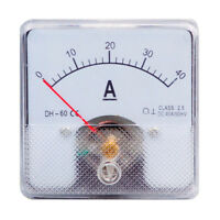 1PC Class 2.5 Analog Panel AMP Current Meter DC 0-40A Ammeter DH-60 60*60