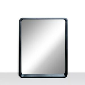 Satin Black Vanity Mirror with Rounded corners 25 inch x 31 inch