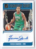 2019 Donruss WNBA Signature Series Press Proof #28 Teresa Edwards Auto 106/199