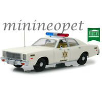 GREENLIGHT 19055 HAZZARD COUNTY SHERIFF 1977 PLYMOUTH FURY 1/18 DIECAST WHITE