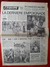 journal  l'équipe 19/07/79 CYCLISME TOUR DE FRANCE 1979 HINAULT KNETEMANN THURAU