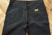 Mens WRANGLER TEXAS Classic Straight Fit Black Jeans Size W34 L30