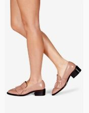 New💕NEXT Signature💕Size 8 (42 EU) Dark Nude Ruffle Leather Loafers Shoes £55