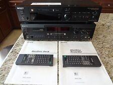 Sony MDS-JA3ES and Sony MDS-302 MiniDisc Player/Recorder (2 Decks)