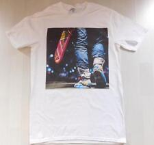 Back to the future White T-Shirt Size S-XXXL 80s Marty McFly Hoverboard Air Mag