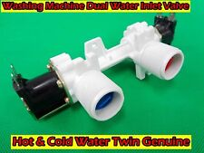 Washing machine Dual Water Inlet Valve Hot & Cold Water Twin Genuine (D214) New
