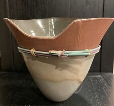 "Ceramic Vase Decor Signed. 7.5"" Tall"