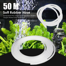 50m 4/6mm Clear Pipe Hose Aquarium Air Line Tube Fish Tank Pond Air Pump Oxygen