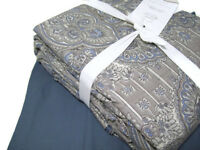 Pottery Barn Multi Color Vivianna Print King Cal King Duvet Cover 3 Euro Shams