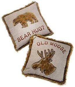 Bear Hug 45cm Cushion with Faux Fur Trim (BEAR HUG)