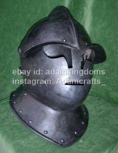 Medieval 16 Gauge Steel Knight Close Armor Helmet