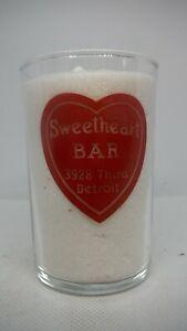 Vintage Restaurant Water Glass - Sweetheart Bar - Detroit, Michigan