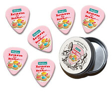 Learn To Bake Martin Wiscombe 6 X Guitar Picks In Tin Vintage Retro