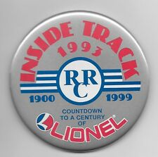 Lionel Trains 1993 Inside Track 1900-1999 Countdown To A Century Button