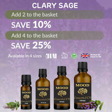 Clary Sage Essential Oil Natural Aromatherapy Essential Oils Diffuser Burner