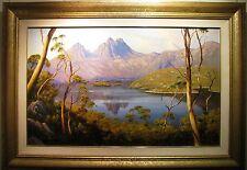 Robyn Collier original oil titled 'Morning Calm Dove Lake'. Tasmania,  Australia