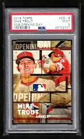 MIKE TROUT  ANGELS  2018 TOPPS MLB OPENING DAY INSERT   - PSA 9 MINT