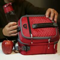 Arctic Zone High-Performance Dual-Compartment Lunch Box 8 Pieces. Red
