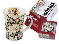 12 Oz Porcelain Mug in a Gift Box, Floral motifs by W.Morris, Art Collection