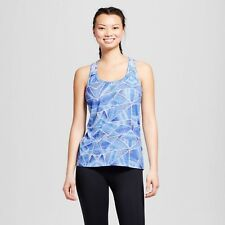 c9 Champion Women's Run Singlet Tank Top Steel Blue Print