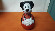 1950's-1960's Mickey Mouse Roly Poly Rattle Toy - Nice Condition