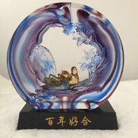 "Amore Jewell ""Mandarin duck couple Hundred years Good Fate""-Liuli Crystal Glass"