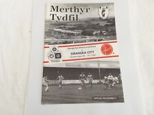 Merthyr Tydfil  v Swansea City Welsh Cup October 1991