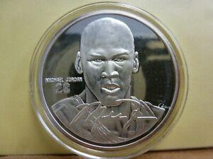 Michael Jordan, NBA - Highland Mint-1oz .999 FINE SILVER - Box & COA #7462