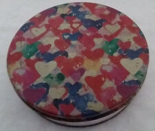 Multi-Colored Hearts Tin Music Box - Love Is A Many Splendored Thing