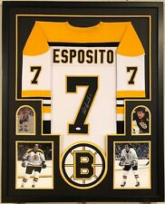 Framed Boston Bruins Phil Esposito Autographed Signed Jersey Jsa Coa