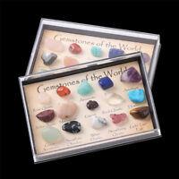 15pcs/Set Natural Chakra Stone Tumbled Crystals Reiki Healing Gemstones Crystals