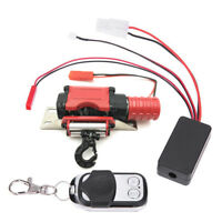 Metal Electric Winch Remote Control for 1:10 SCX10 D90 D110 RC Crawler Car Parts