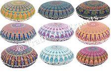 """Wholesale Lot Set Of 10 Mandala Floor Pillow Covers 32"""" Indian Ottoman Poufs"""