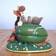Charming Tails Garden Naptime Mouse with Snail Autumn 85/615 Retired Mint In Box