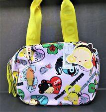 Nwt Harajuku Lovers Handbag Purse- Pink & Yellow w/ Ice Cream Cone Fob - #8100