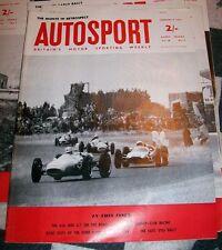 VINTAGE BRITISH AUTOSPORT MAGAZINE FEB 8TH 1963 VOL. 26 NO.6 MONTE CARLO RETRO