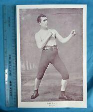Original 1894 Antique print Portrait Gallery of pugilistes Mike Daly Boxer