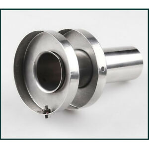 """4.5"""" Outer Dia /2"""" Inner Core Stainless Double Section Exhaust Muffler Canister"""