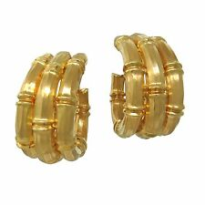 Cartier Bamboo Collection 18k Gold Earrings